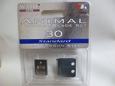 WAHL ANIMAL TRIMMER BLADE SET 30 STANDARD NO. 1086 USA HIGH CARBON STEEL Carbon Blade Set