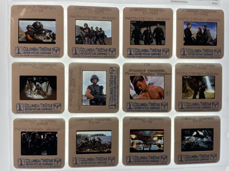 Starship Troopers Movie 35mm Slides Press Kit Publicity Promo Vtg Lot of 12