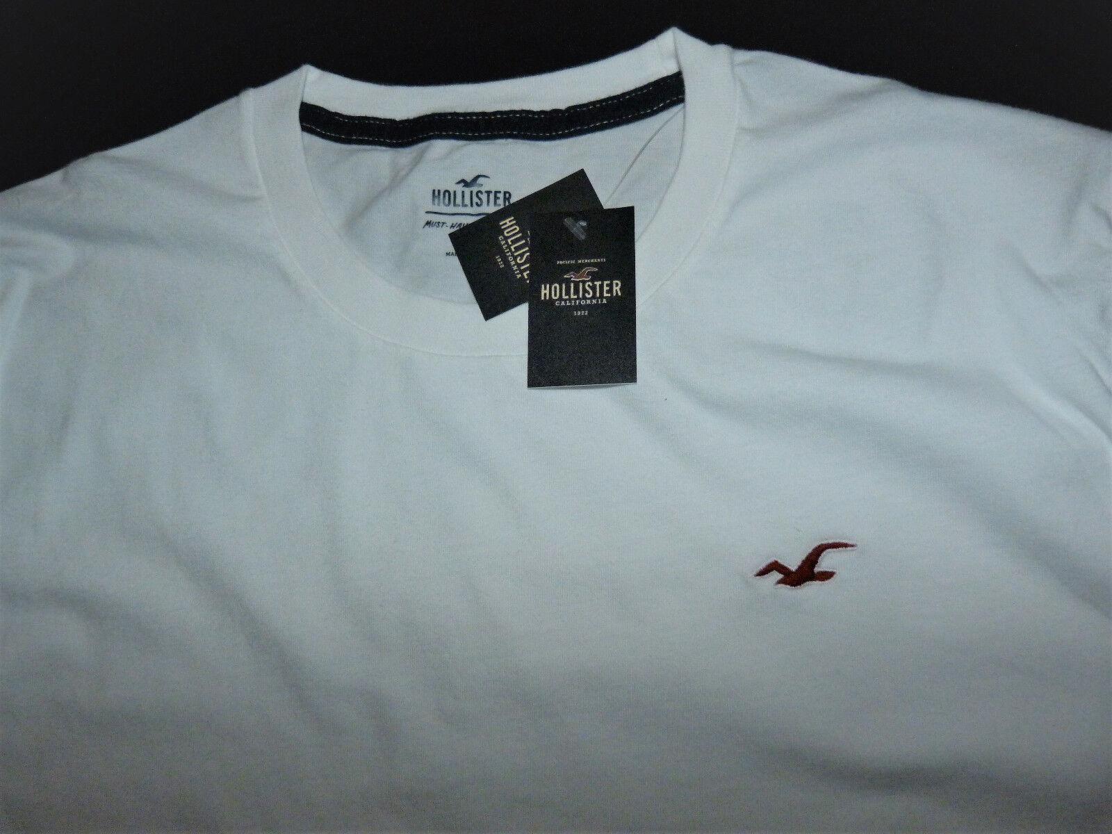 Hollister - Herren T-Shirt  Weiß Gr  M . L . XL NEU
