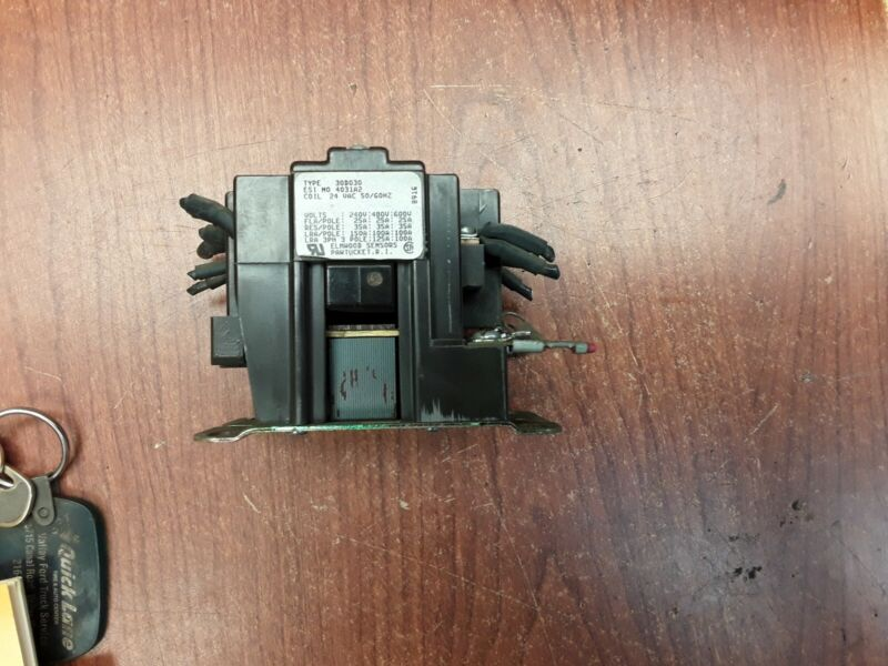 Elwood Sensors 30D030 Contactor 24 Vac 50/60HZ