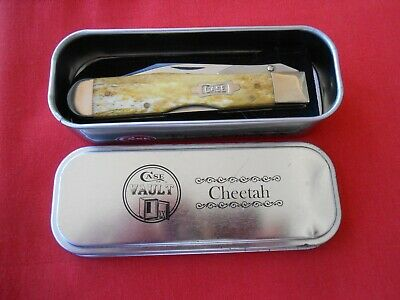 CASE XX 6111 1/2L CHEETAH BROWN SMOOTH BONE HANDLES 2011 KNIFE