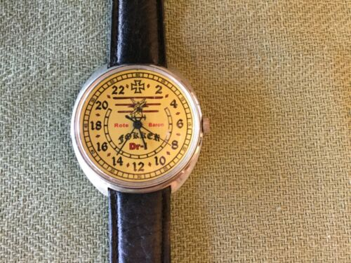 Vintage Rote Banon Fokker Watch German Red Barron