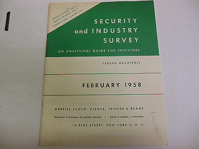 Security and Industry Survey Original February 1958 Issued Quarterly 061113ame