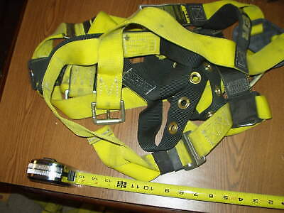 Miller Safety Harness Full Body Yellow Adjustable Harness - 850-4uyku