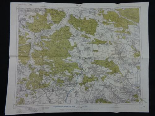 """WW1 (1916) German TRENCH MAP from RUSSIAN """"BRUSILOV OFFENSIVE"""" (Eastern Front)"""