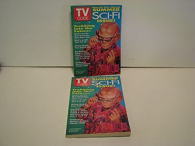 T.V. Guide July 24 - 30 1993 Sci Fi issue Deep Space Nine Quark  LOT OF 2 MAGS 24 Deep Return