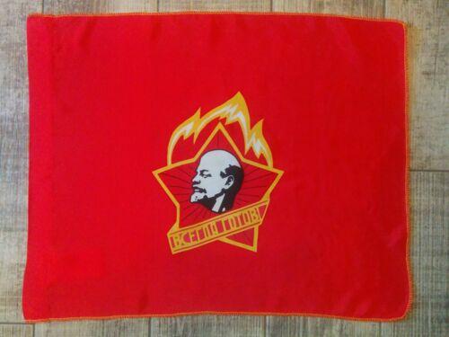 Vintage Original Soviet Red Flag Pioneer Lenin Banner Youth Communist USSR