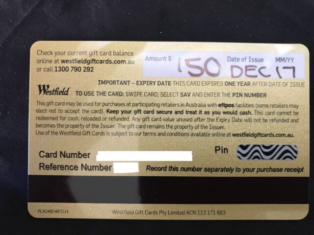 Westfield 150 gift card for cash exchange miscellaneous goods westfield 150 gift card for cash exchange miscellaneous goods gumtree australia eastern suburbs coogee 1172206972 negle Images