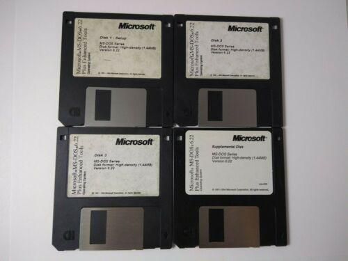 MS-DOS 6.22- Discs 1-3 + Supplemental Disc