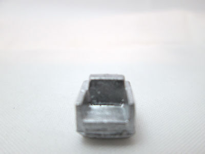 Dollhouse Miniature Unfinished Metal 144th Scale Modern Chair #4