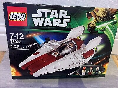 LEGO Star Wars A-wing Starfighter (75003) complete with figures and box