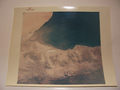 "Apollo 6 Earth Gulf of California ""A Kodak Paper"" 8x10 Red Serial # NASA Photo"