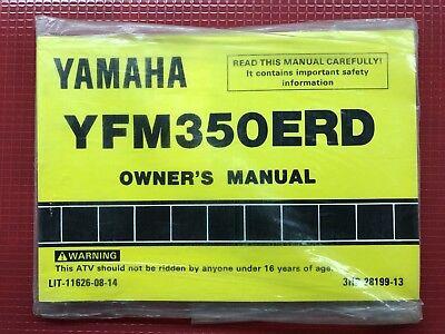 1992 Yamaha YFM350ERD Moto 4 Owners Manual