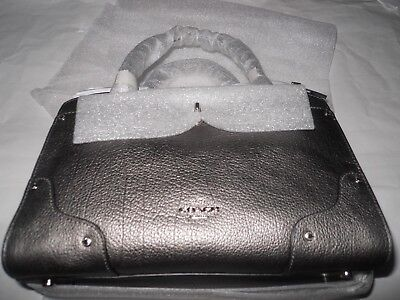 Coach Mercer Satchel 24 Metallic Leather Silver Limited Edition *new w/ tags*