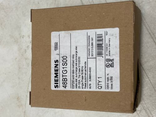 SIEMENS 48BTG1S00 ESP200 solid state overload relay - 25-100AMPS