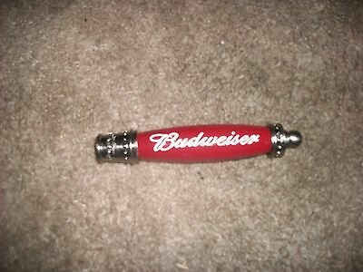 "Budweiser 7"" beer bar draft tap handle marker signature keg box unique NIB"