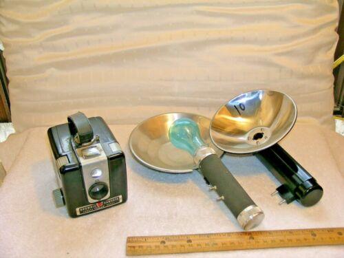 Vintage Brownie Hawkeye Camera Flash Model with two (2) Flash attachments