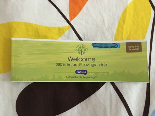 $80 Enfamil Coupons/Checks Booklet 16x$5 Coupons Save
