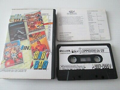 Hit Pak Compilation For Commodore 64 / C64 Games - Airwolf Bomb Jack Commando Fr