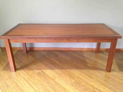 hard wood dining table, 8 seater