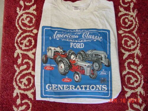 FORD TRACTOR GENERATIONS BLUE T SHIRT SIZE 2X