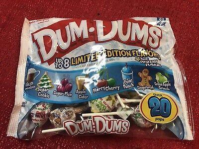 DUM DUMS 5.4 oz LIMITED EDITION Lollipop Candy Holiday Christmas - Dum Dum Flavors