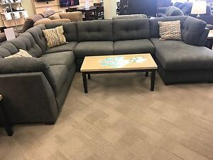 Ashley delta city steel sectional