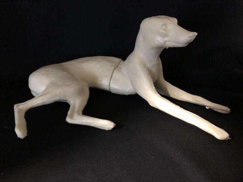 Taxidermy Form Grey Fox Lying Down Right Turn Closed Mouth 2 X 11 X 23