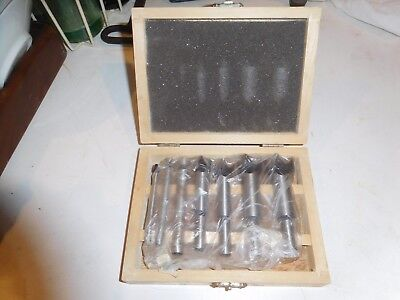 Aged FORSTNER SET DRILL BITS MAPLE BOX UNUSED WOOD WORKING TOOLS