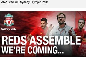 2x KOP Tickets Liverpool v Sydney ANZ Stadium 24/4/17 Melbourne CBD Melbourne City Preview