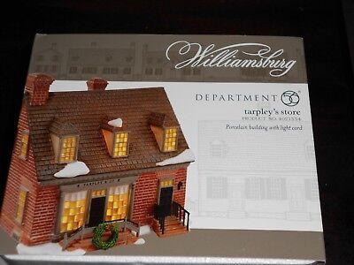 DEPT 56 WILLIAMSBURG VILLAGE TARPLEY'S STORE NIB *Still Sealed*