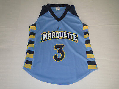 Marquette Golden Eagles Dwyane Wade Jersey T-shirt YOUTH Large **MINT** for sale  Hales Corners