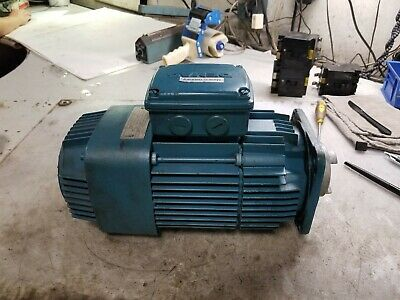 Demag .1.8 Hp Electric Ac Motor 480 Vac 4953410 Rpm 3 Phase 80z122 Frame