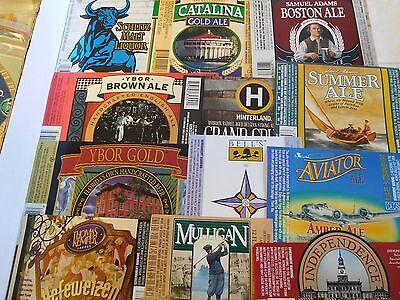 50  Different US Beer Labels #3 Unused