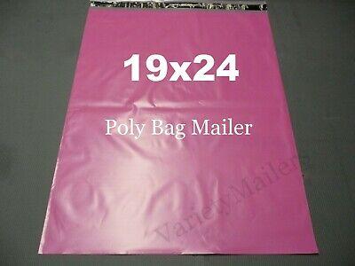 30 Extra Large Pink Poly Bag Mailers 19x24 Big Self-sealing Shipping Envelopes