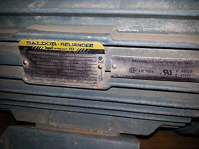 Baldor Reliance Electric Motor 75hp Super E Severe Duty Xex Used