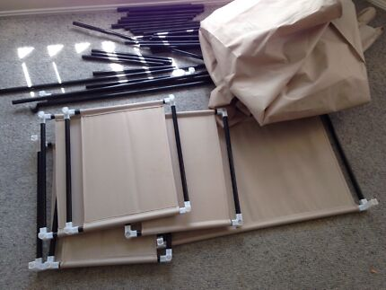Canvas kitset wardrobe comes with shelving like new Browns Plains Logan Area Preview