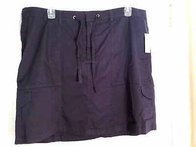 Twill-skort (C J Banks Navy Blue Cotton Twill Skort Golf Skirt Shorts 22W 24W NWT $50)