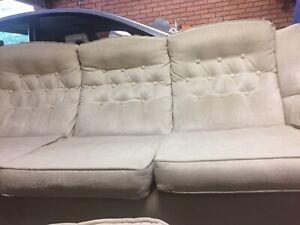 2 suede cream 3 seater couches