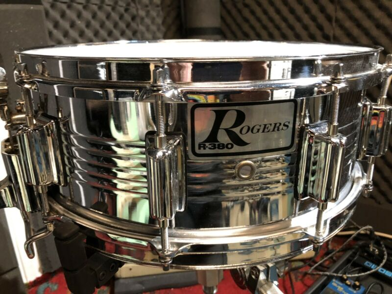 "Rogers R-380 14"" X 5.5"" Parallel Action Snare Drum"