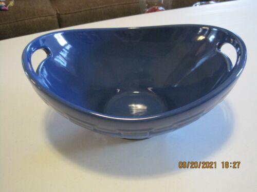 Longaberger Pottery Swoop Contour Bowl Dish Woven Traditions Cornflower Large