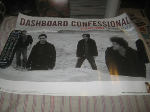 DASHBOARD CONFESSIONAL-DUSK AND SUMMER-1 POSTER-2 SIDED-18X24 INCHES-NMINT-RARE!
