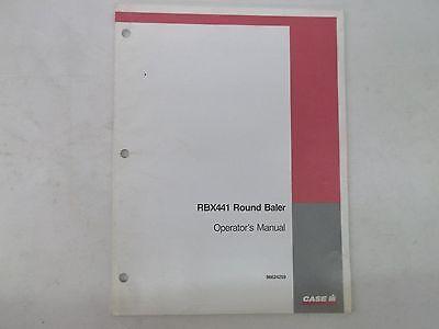 Case International Model Rbx441 Round Baler Operators Manual