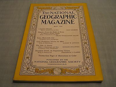 Vintage National Geographic May 1944 Ukraine Nigeria Kano Coal Isles Of Greece