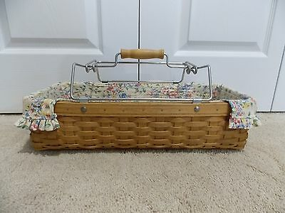 ** LONGABERGER ** 2003 Household Caddy COMBO (Hostess Basket, Liner, Protector)
