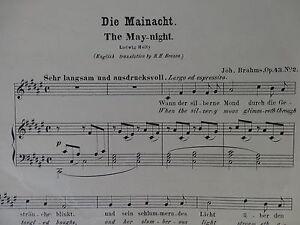 Johannes Brahms: Die Mainacht/ The May-night op. 43 für Gesang und Piano - Mürzzuschlag, Österreich - Johannes Brahms: Die Mainacht/ The May-night op. 43 für Gesang und Piano - Mürzzuschlag, Österreich