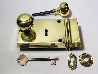 Solid Brass Victorian Rim Yale Cylinder Cover Escutcheon
