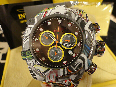 Invicta 31622 52mm Bolt Zeus Graffiti Chronograph Hydroplated Bracelet Watch!