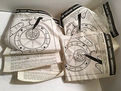VINTAGE 1960's KENNER SPIROGRAPH WHEEL GEAR RING GAME REPLACEMENT PARTS (5) MIP