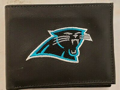 Carolina Panthers Embroidered Leather - NFL Carolina Panthers Bill Fold Leather Wallet, New (Embroidered Logo)